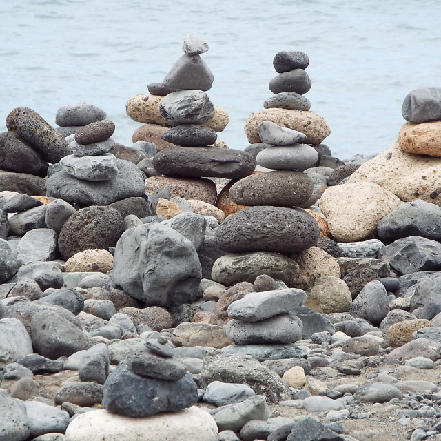 """'Pebbles on a Beach'"" stock image"