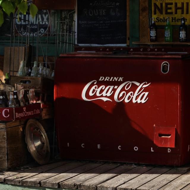 """Coke Cooler"" stock image"