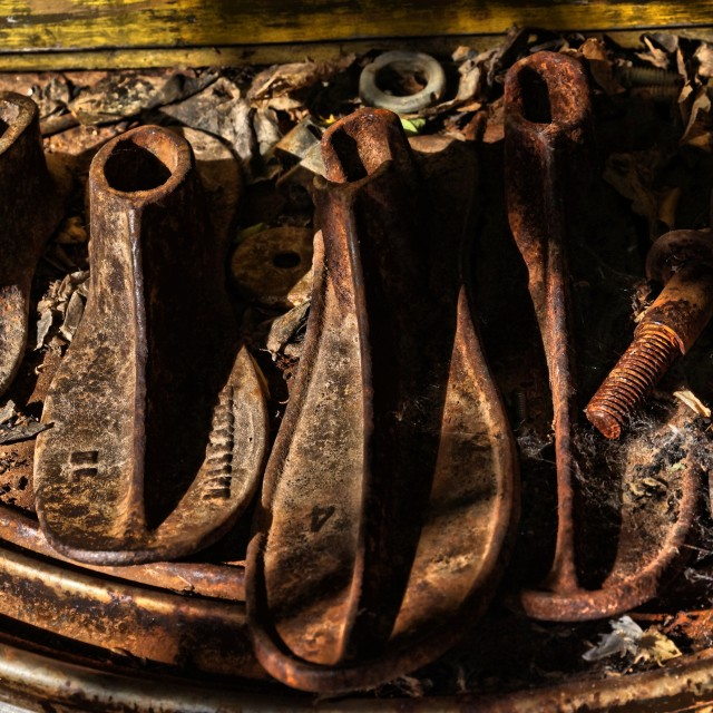 """""""Rusted Shoe Forms"""" stock image"""