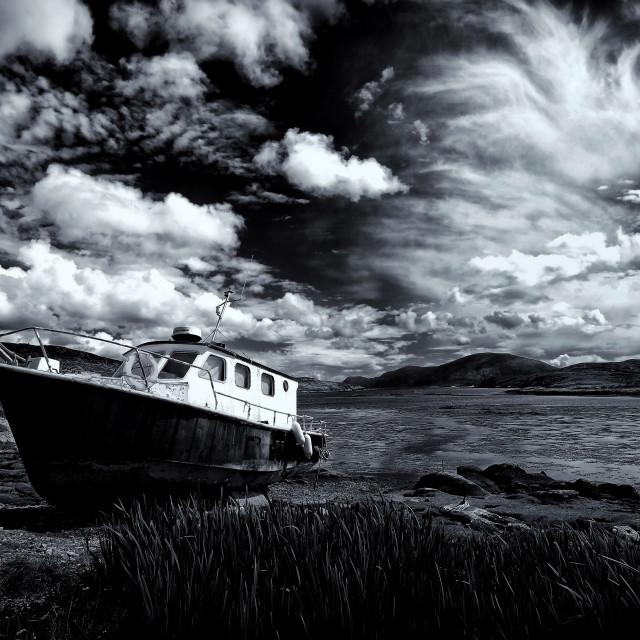 """Loch Leosavay, Isle of Harris"" stock image"