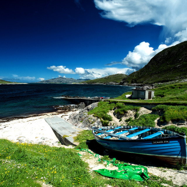 """Huisinish, Isle of Harris"" stock image"
