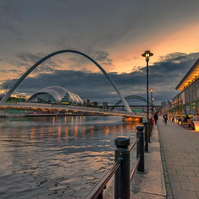 """Newcastle Quayside"" stock image"