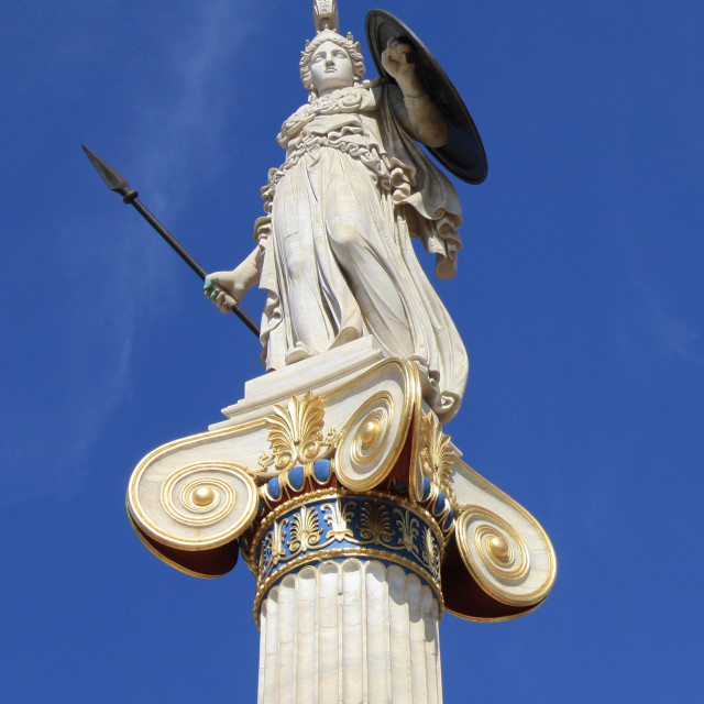 """""""Statue of goddess Athena in Greece"""" stock image"""