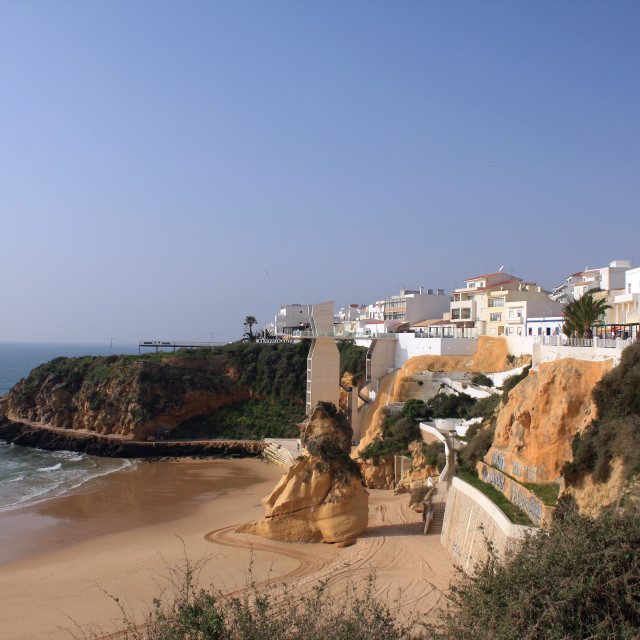 """""""Albufeira in The Algarve, south coast of Portugal"""" stock image"""