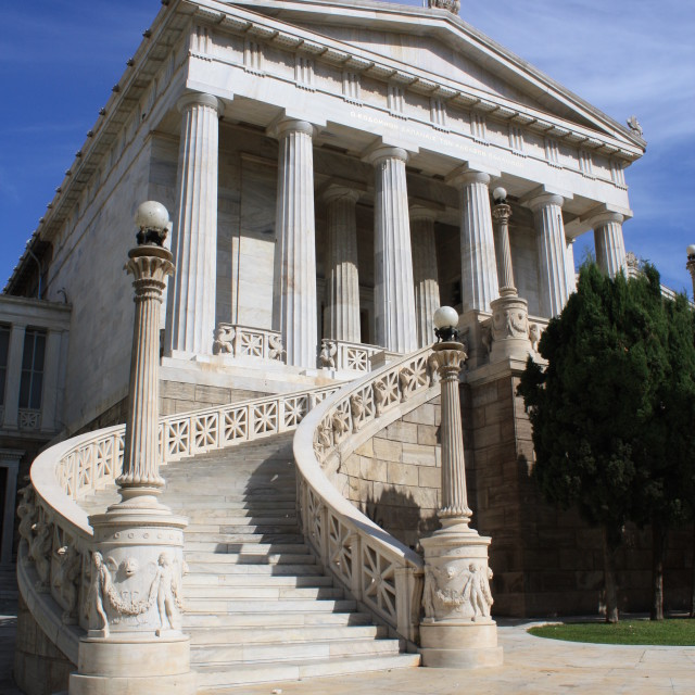 """""""National Library of Athens, Greece"""" stock image"""