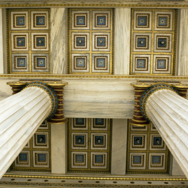 """""""Academy of Athens Detail"""" stock image"""