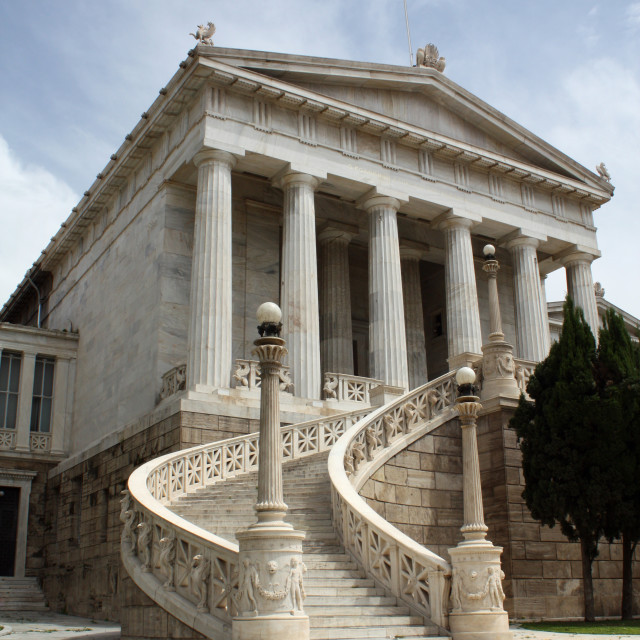 """""""National Library, Athens, Greece."""" stock image"""