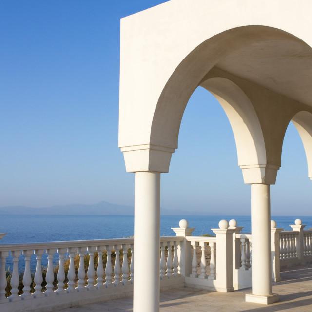 """Greek island blue and white"" stock image"