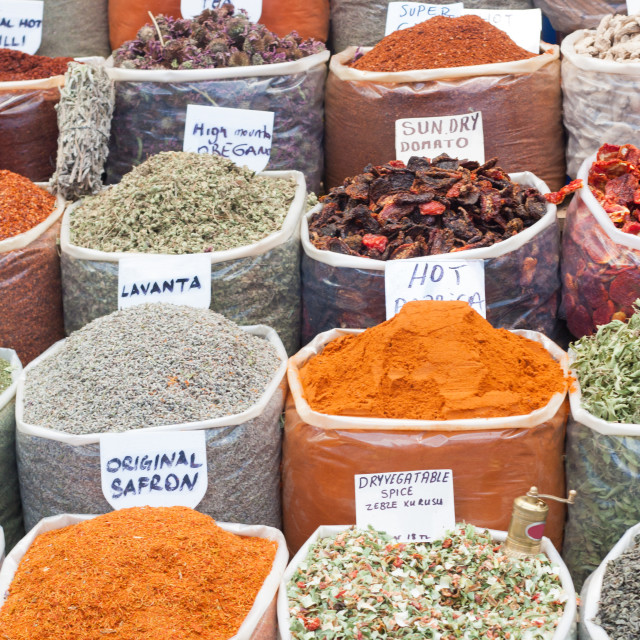 """Spices and Herbs in Market"" stock image"