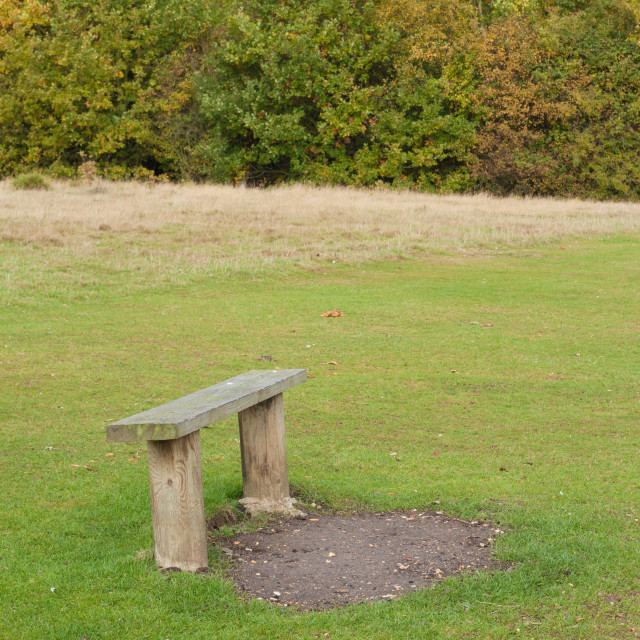 """""""Bench in the countryside in autumn"""" stock image"""