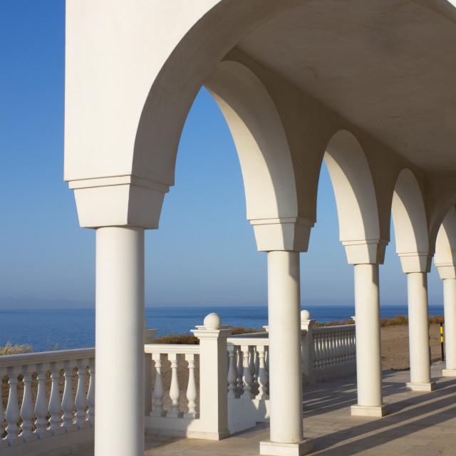 """Balcony over Aegean Sea"" stock image"