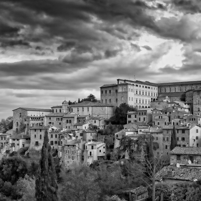 """Italian hilltop town"" stock image"