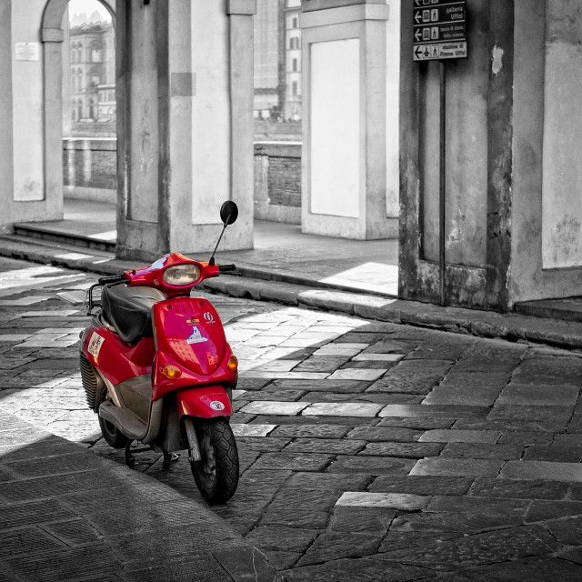 """Red Vespa"" stock image"