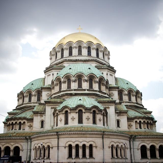 """""""Alexander Nevsky Cathedral, Sofia"""" stock image"""