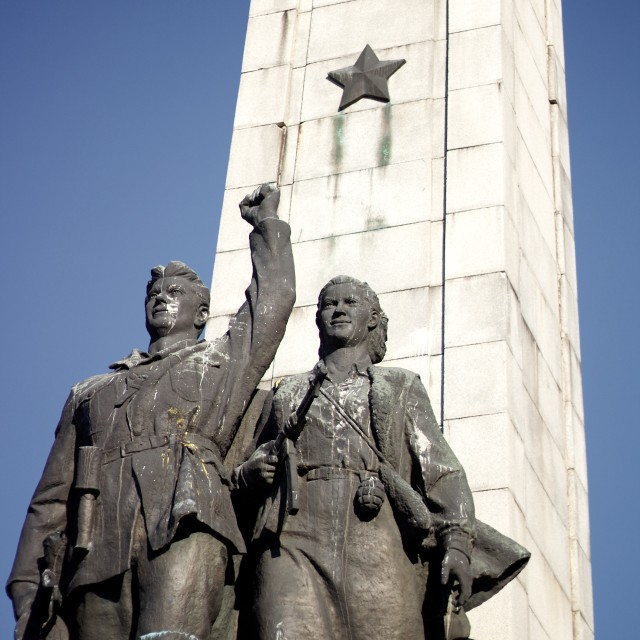 """Communist Statue"" stock image"
