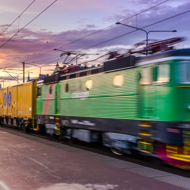 """Speeding locomotive"" stock image"