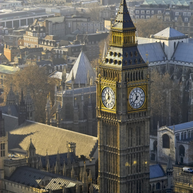 """Big Ben from above"" stock image"
