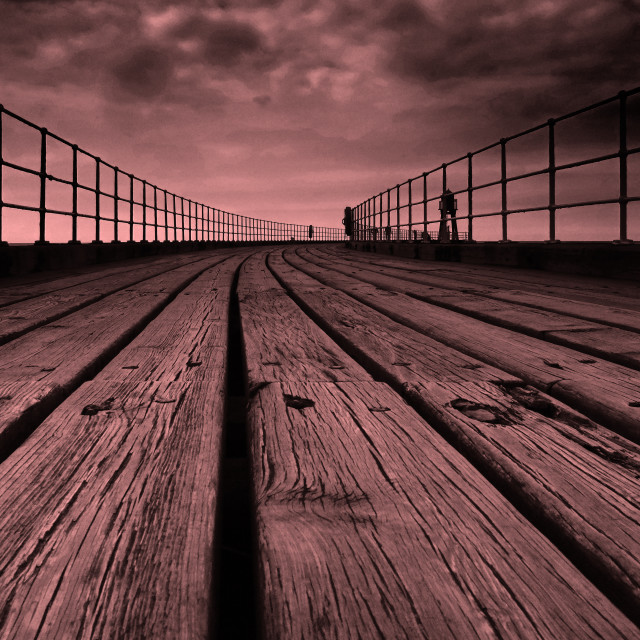 """Wooden Pier"" stock image"