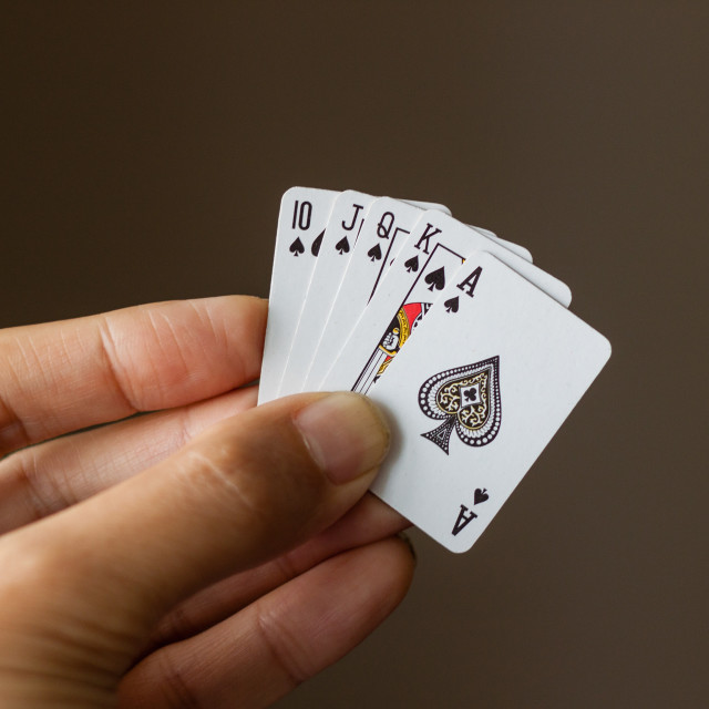 """L'il Royal Flush"" stock image"