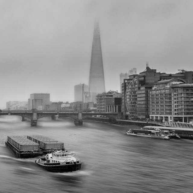 """Barge & Shard"" stock image"