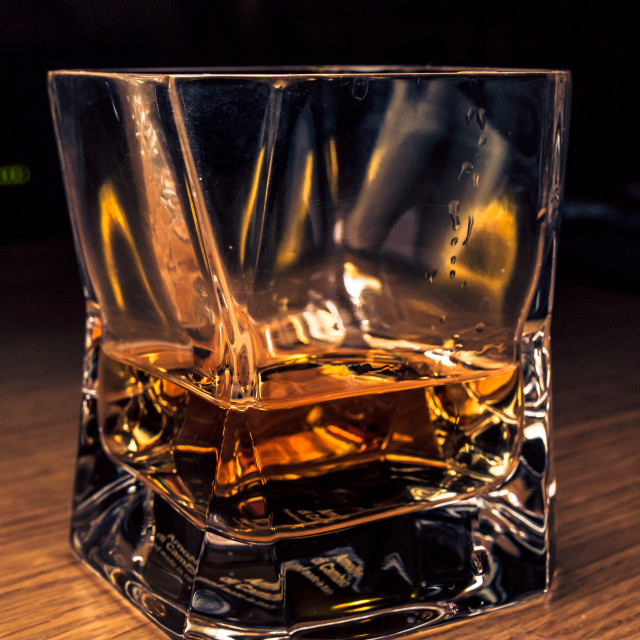 """A glass of Scotch, sir?"" stock image"
