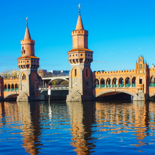 """Oberbaum Bridge in Berlin"" stock image"