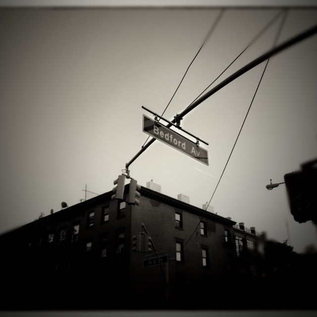 """""""Bedford Ave."""" stock image"""