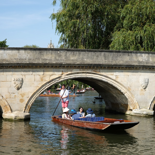 """""""Punting On The River Cam ."""" stock image"""
