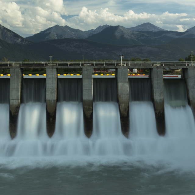 """Kananaskis Hydro Electric Dam m2"" stock image"
