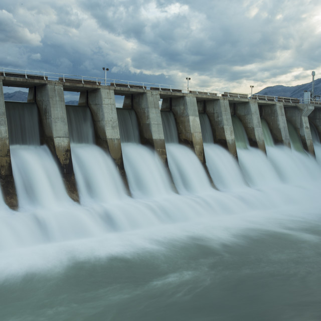 """Kananaskis Hydro Electric Dam w7"" stock image"