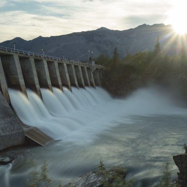 """Kananaskis Hydro Electric Dam mw5"" stock image"