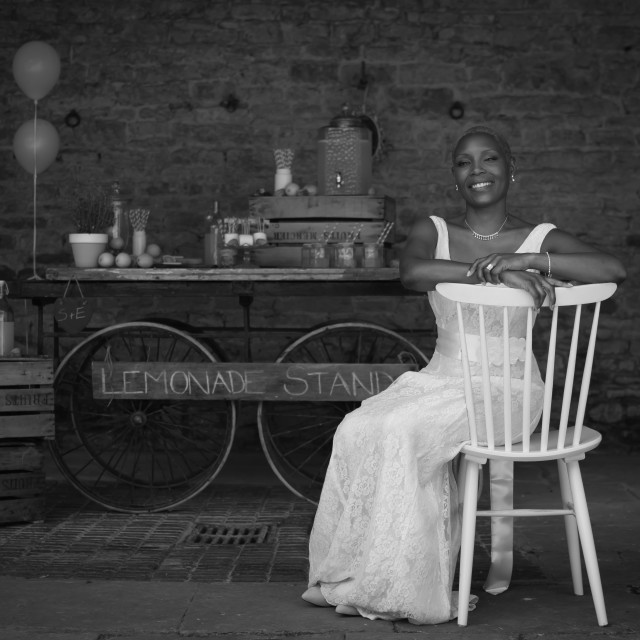 """Bride and Lemonade"" stock image"