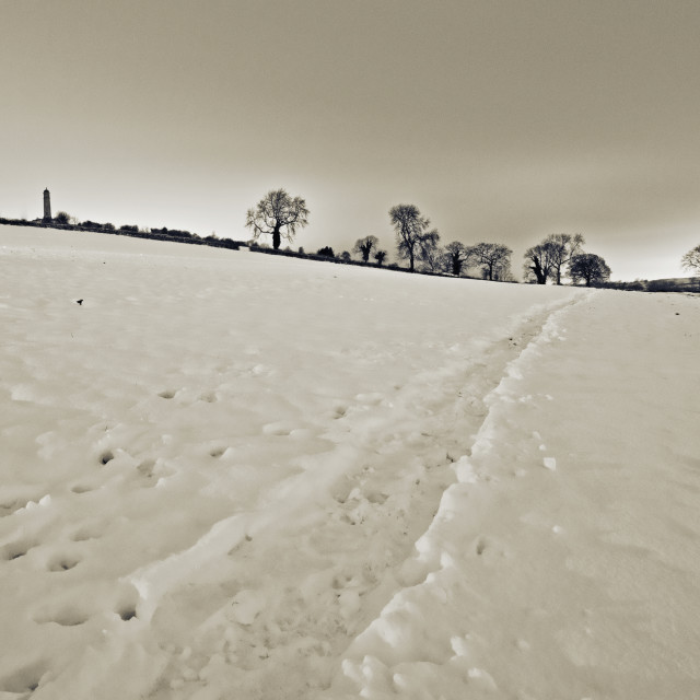 """Crich Snow"" stock image"