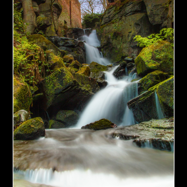 """Lumsdale Waterfall"" stock image"