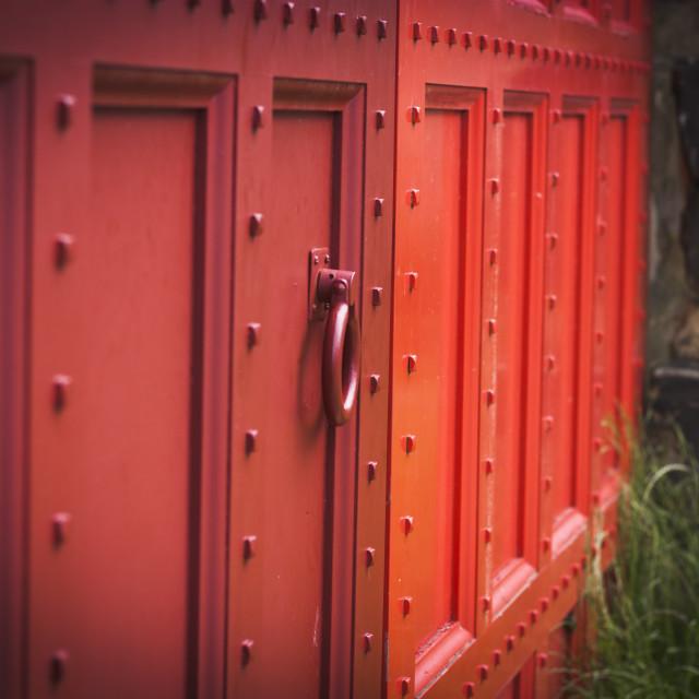 """""""Red Doors"""" stock image"""