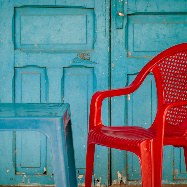 """Red chair"" stock image"