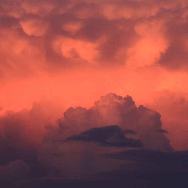 """""""Evening Storm Clouds"""" stock image"""