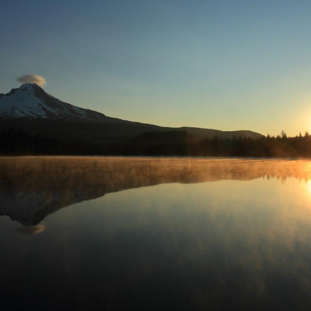 """Mount Hood at sunrise"" stock image"