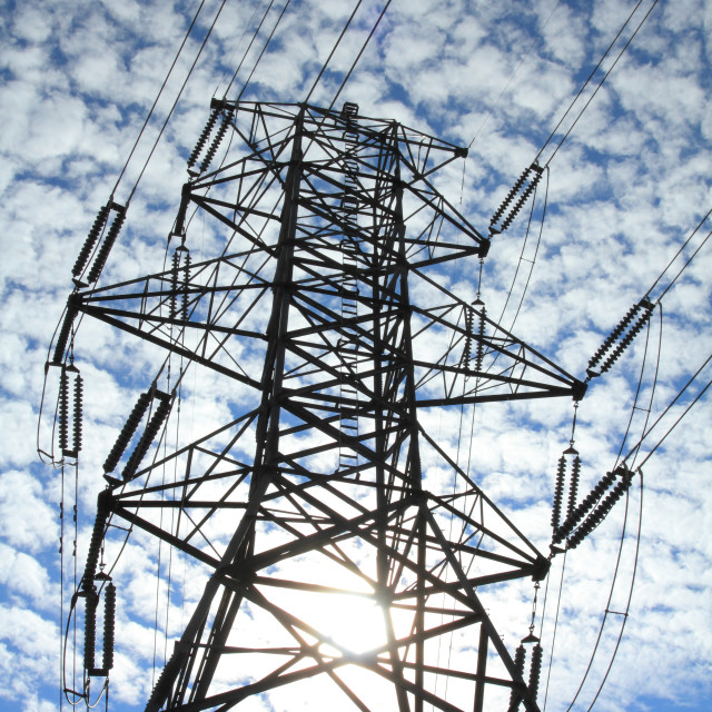 """Electrical Power Pylon"" stock image"