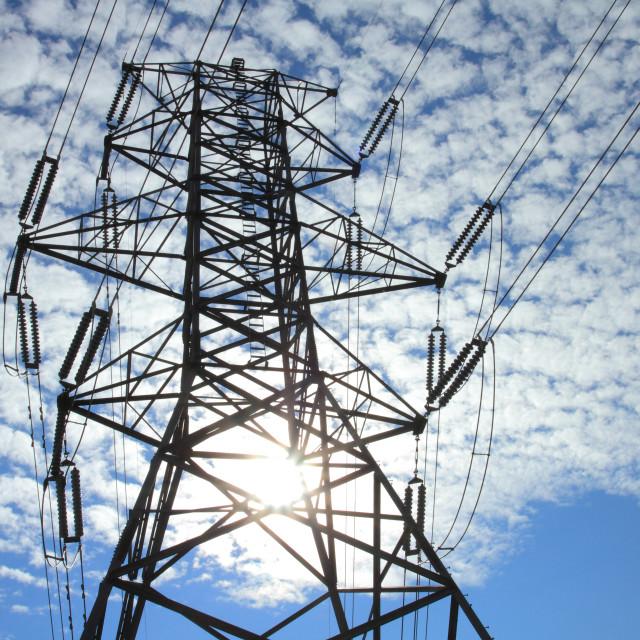 """Electrical Power Pylon"" stock image"