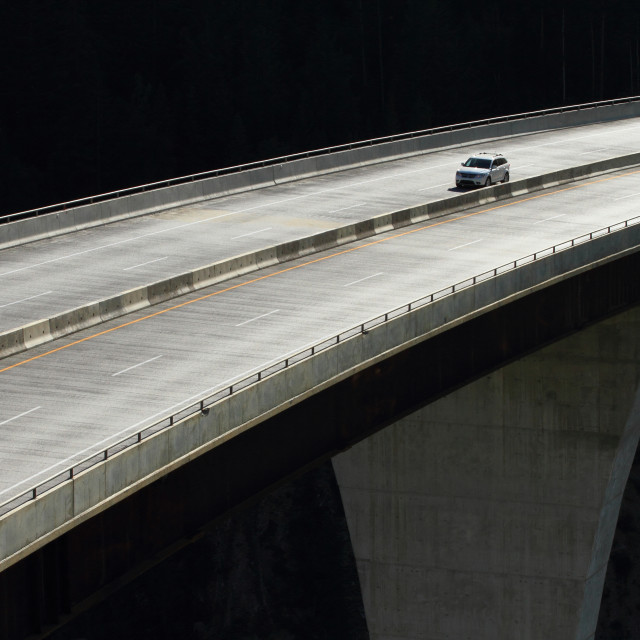 """Car on a high level bridge 01"" stock image"