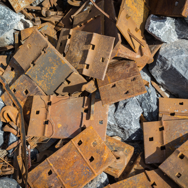 """Rusty Scrap"" stock image"