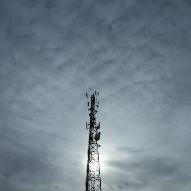 """Communication Tower"" stock image"