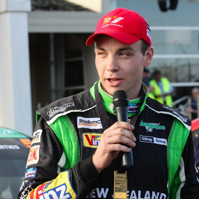 """Hayden Paddon, rally driver."" stock image"