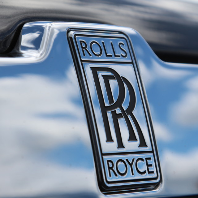 """Rolls royce badge"" stock image"