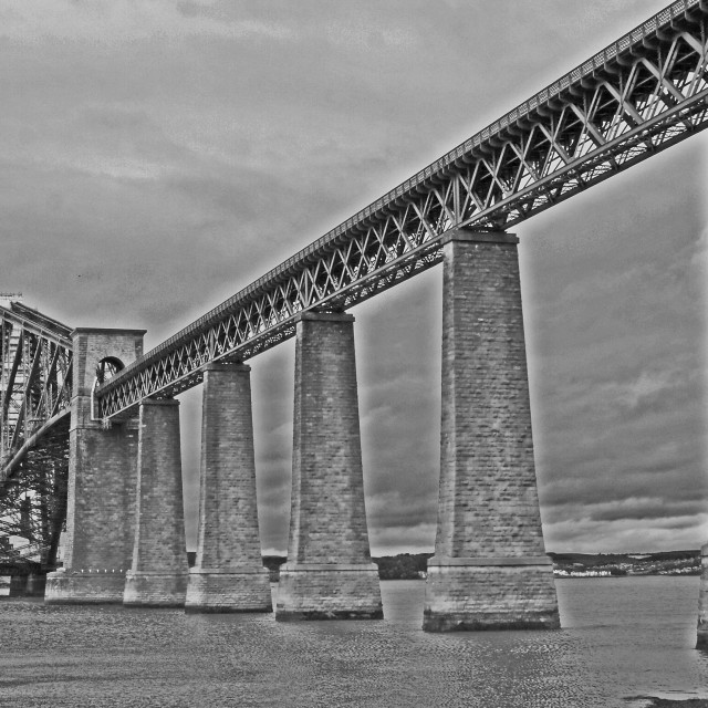 """forth of firth, railway bridge, scotland"" stock image"