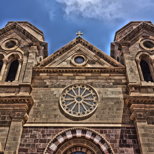 """Church 3 Santa Fe"" stock image"