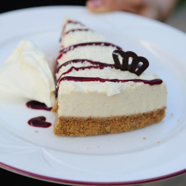 """Cheesecake haute cuisine"" stock image"