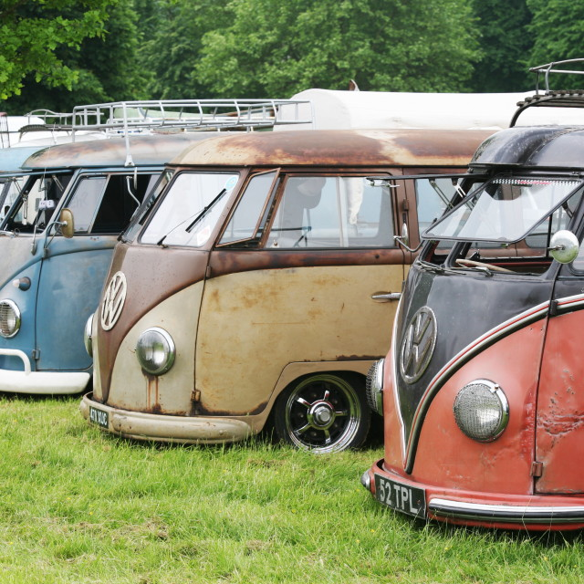 """vw, type 2, campervan, 2"" stock image"