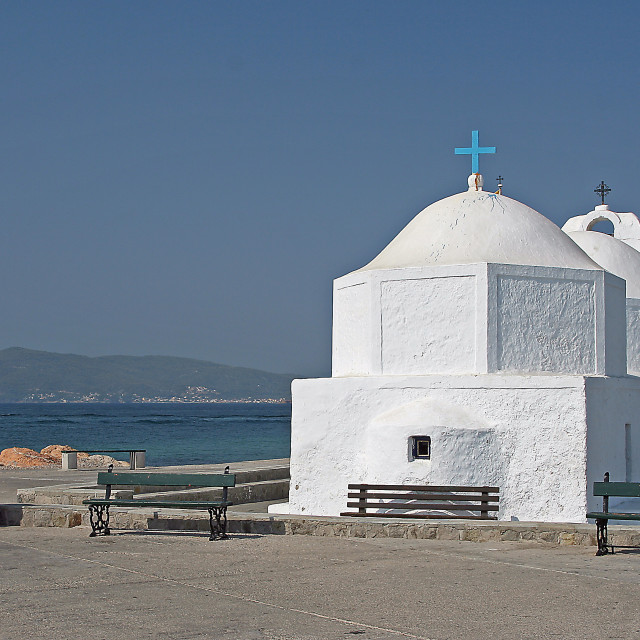 """greek church, aegina"" stock image"